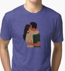 Jess Day and Nick Miller Kiss! Tri-blend T-Shirt