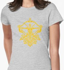 Zodiac Sign Sagitarius Gold Womens Fitted T-Shirt