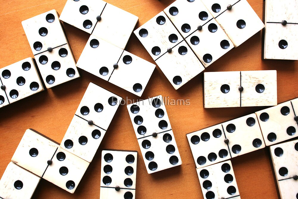 """Day 30   365 Day Creative Project  """"Let's play dominoes"""" by Robyn Williams"""
