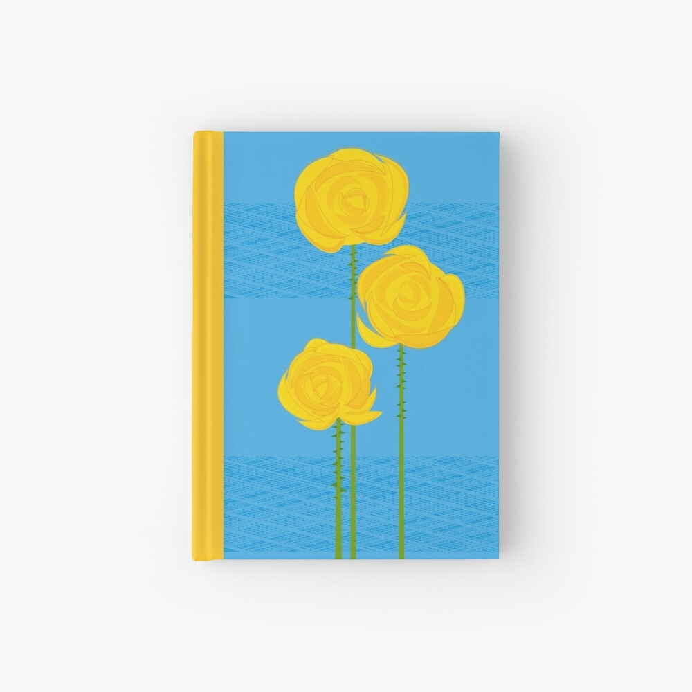 Yellow Roses Hardcover Journal
