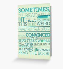 tfios - Sometimes you read a book... Greeting Card