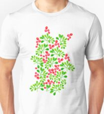Christmas Branch + Berries Unisex T-Shirt