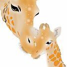 Two giraffes by Amy Palmer