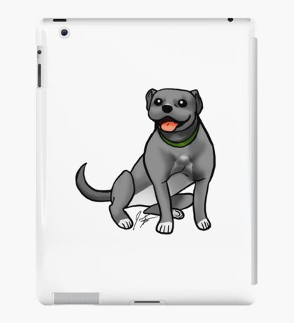 Pitbull - Gray iPad Case/Skin
