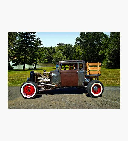 1928 Ford Model A Pickup Truck Rat Rod Photographic Print