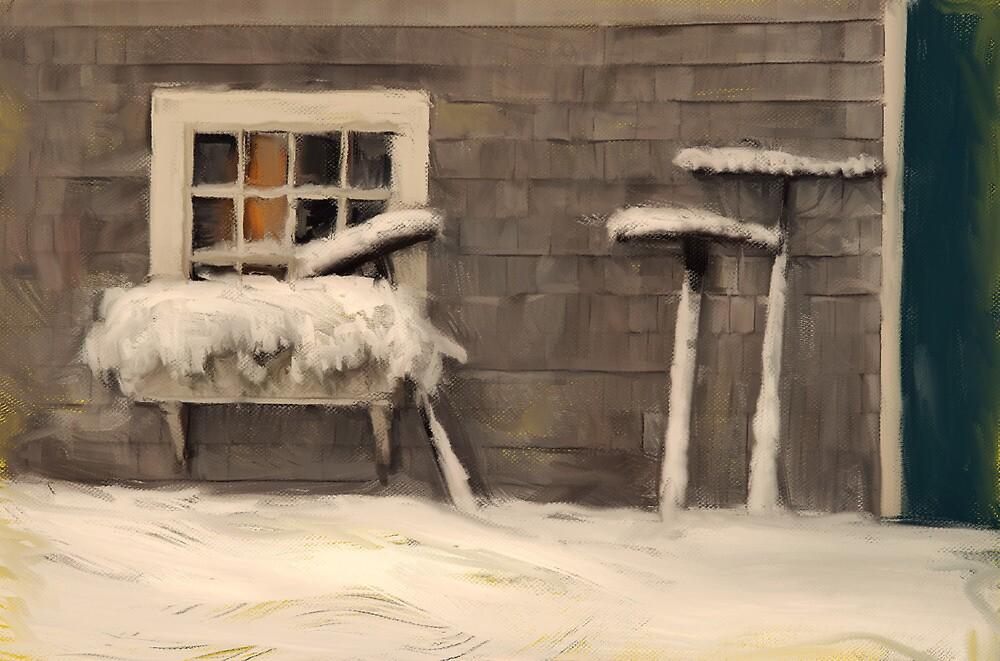 Three Rakes, Sheepscote Maine by Dave  Higgins