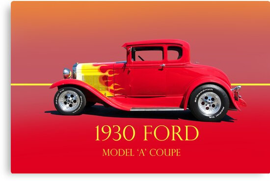 1930 Ford Model A Coupe Profile w/ID by DaveKoontz