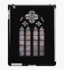 Leaded Glass Window, Notre Dame, Paris iPad Case/Skin