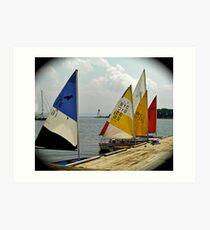 Sail School Art Print