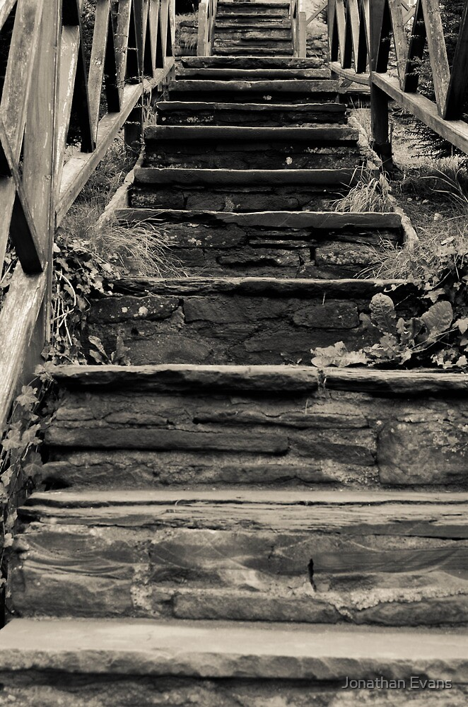 Old Stairs by Jonathan Evans