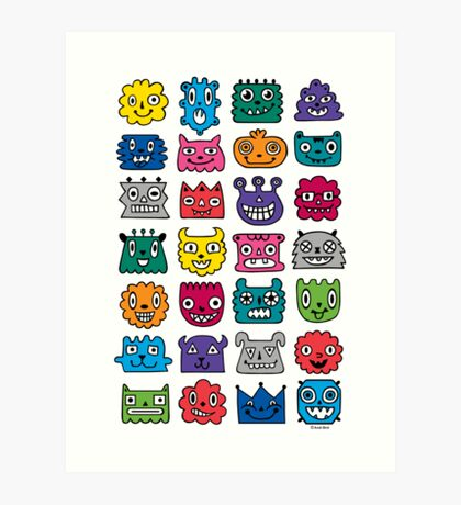 Monster Mash iphone case Art Print