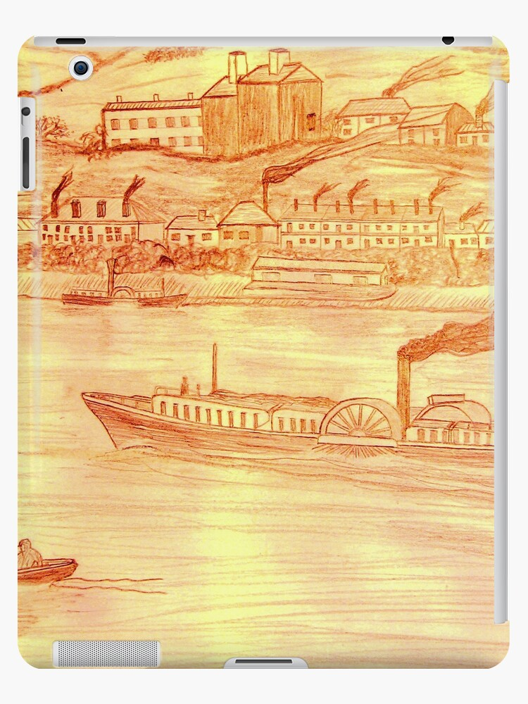 Danube Paddle Steamer iPad case by Dennis Melling