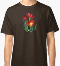 Bright Red Tulips Classic T-Shirt