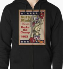Nutty Mads: Rocko the Champ Zipped Hoodie