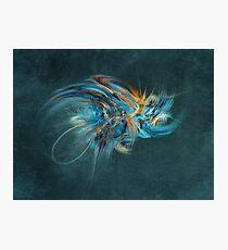 Blue Hornet Fractal Art Photographic Print