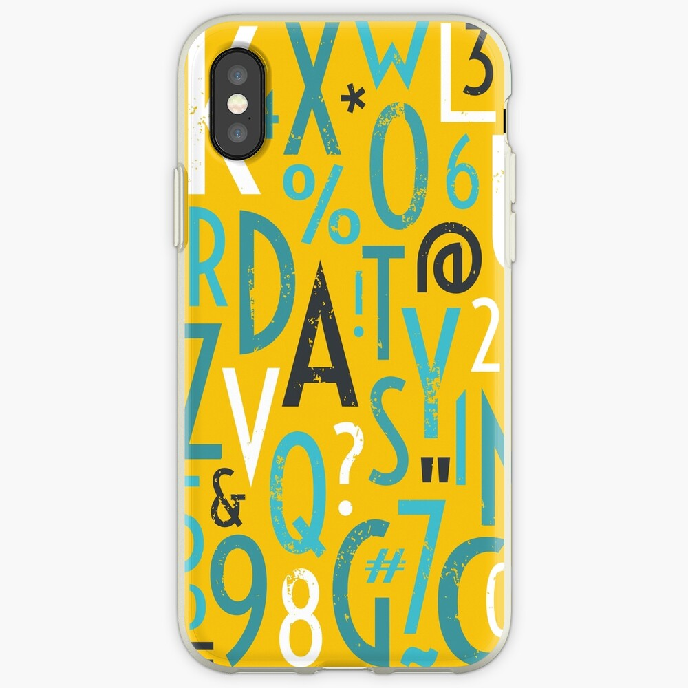 Retro Letters and Numbers iPhone Case & Cover