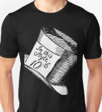 Alice in Wonderland Classic Mad Hatter Hat Unisex T-Shirt