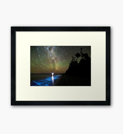 Bioluminescence in the Gippsland Lakes Framed Print
