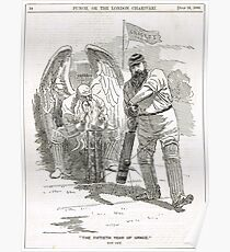 50 years of W G Grace punch cartoon 1898 Poster