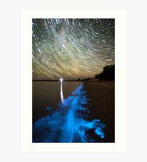 Bioluminescence in the Gippsland Lakes Art Print