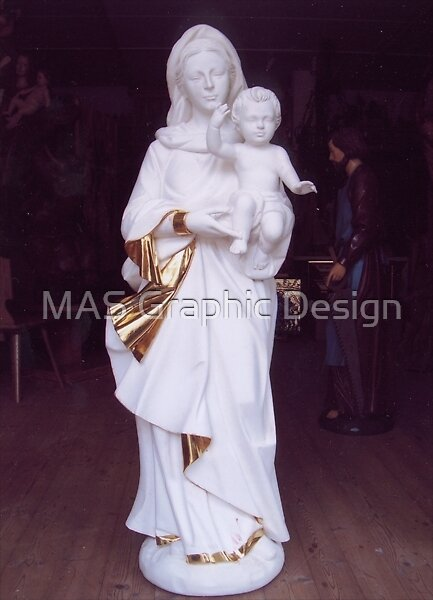 Virgin Mary woodcarving by atelierwilfried