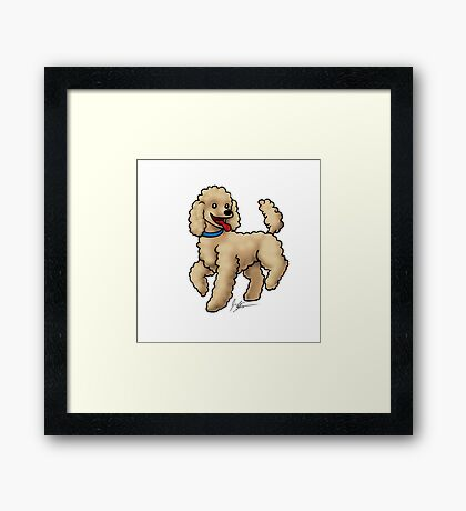 Poodle Brown Framed Print