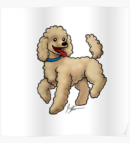 Poodle Brown Poster