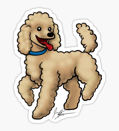 Poodle Brown Glossy Sticker