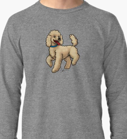 Poodle Brown Lightweight Sweatshirt