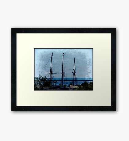 Shipping out © Framed Print