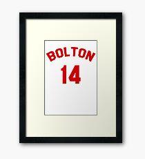 High School Musical: Bolton Jersey Red Framed Print