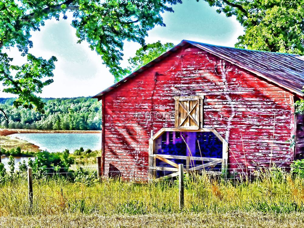 Old Red Barn (HDR) by Jeff Ore