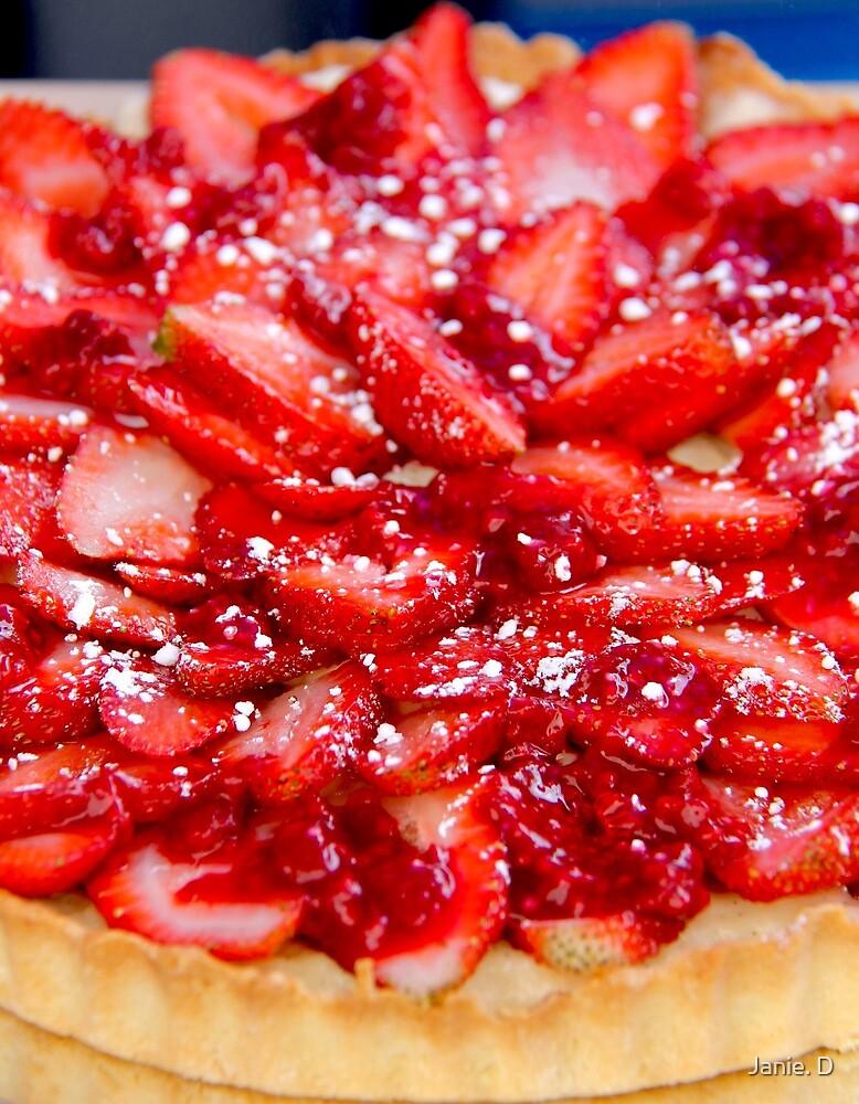 Strawberry Flan by Janie. D