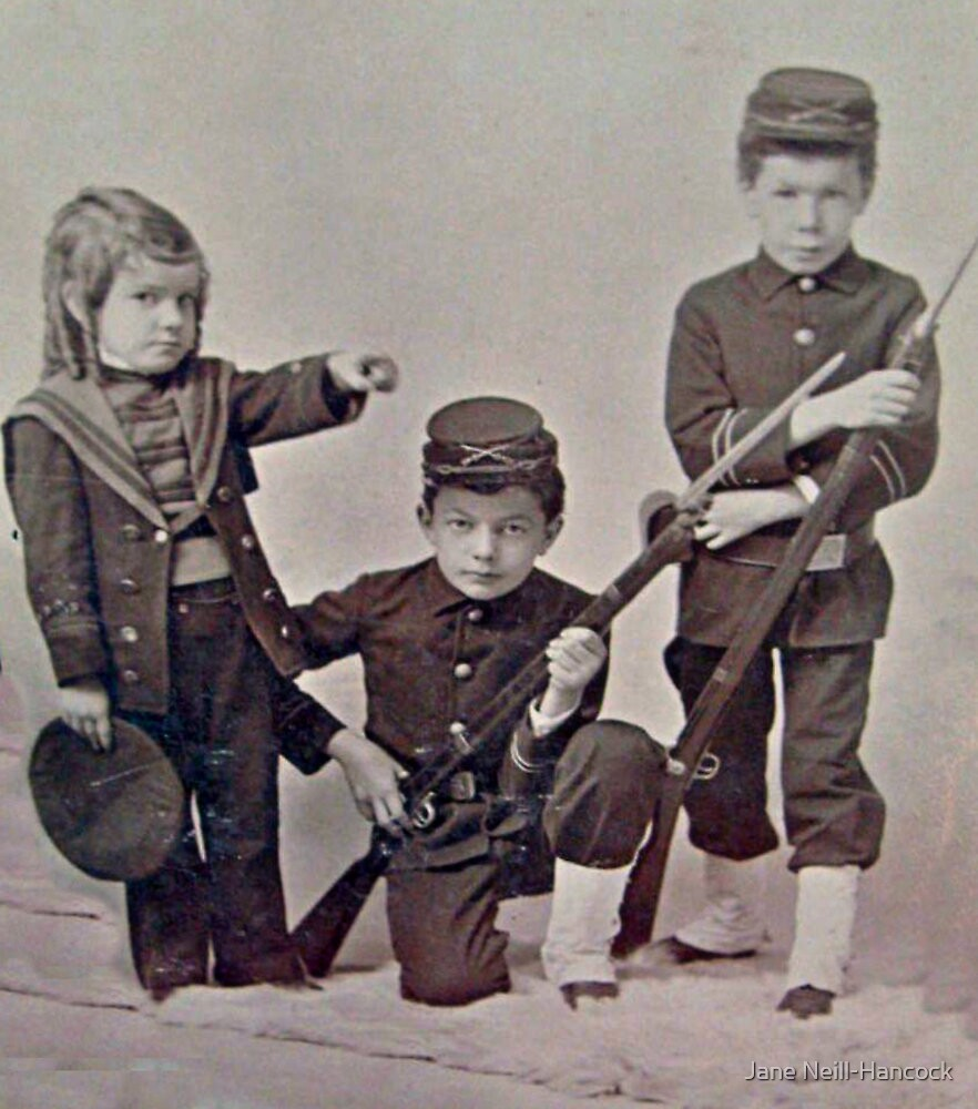 1860s Photo of Civil War Children by Jane Neill-Hancock