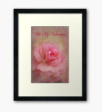 Be My Valentine - Card Framed Print