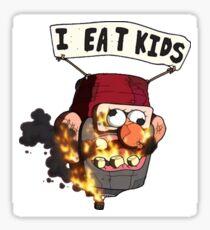 "GRAVITY FALLS ""I HEART KIDS"" Sticker"