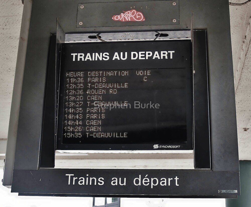 Trains to Depart by Stephen Burke