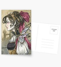Steampunk Doll Postcards