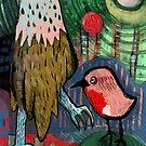 Bald Eagle & Robin by Jonathan Grauel