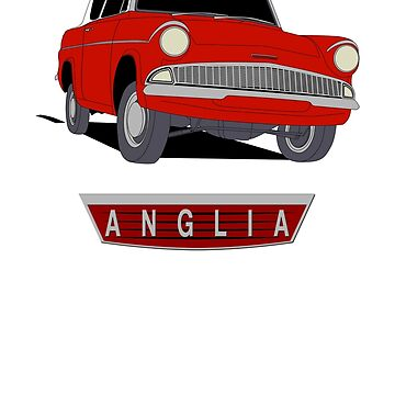 Ford Anglia - Two Tone Red And White by UKMatt2000