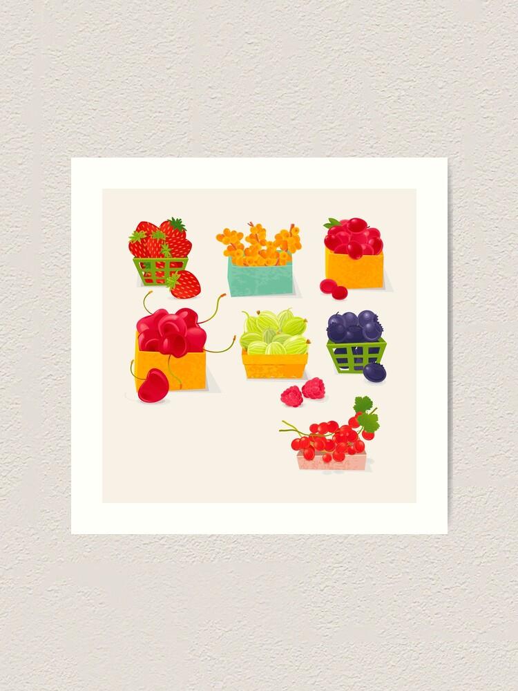 Alternate view of Sweet Berries Art Print