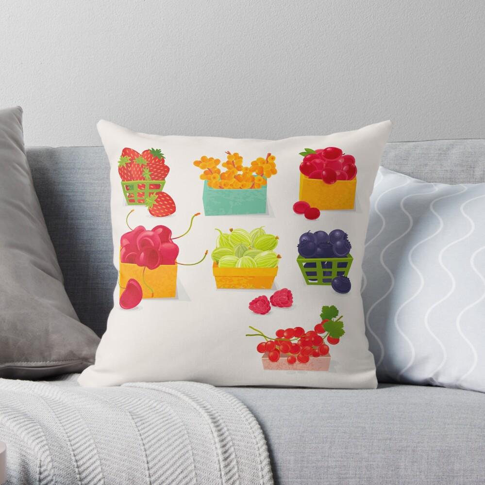 Sweet Berries Throw Pillow
