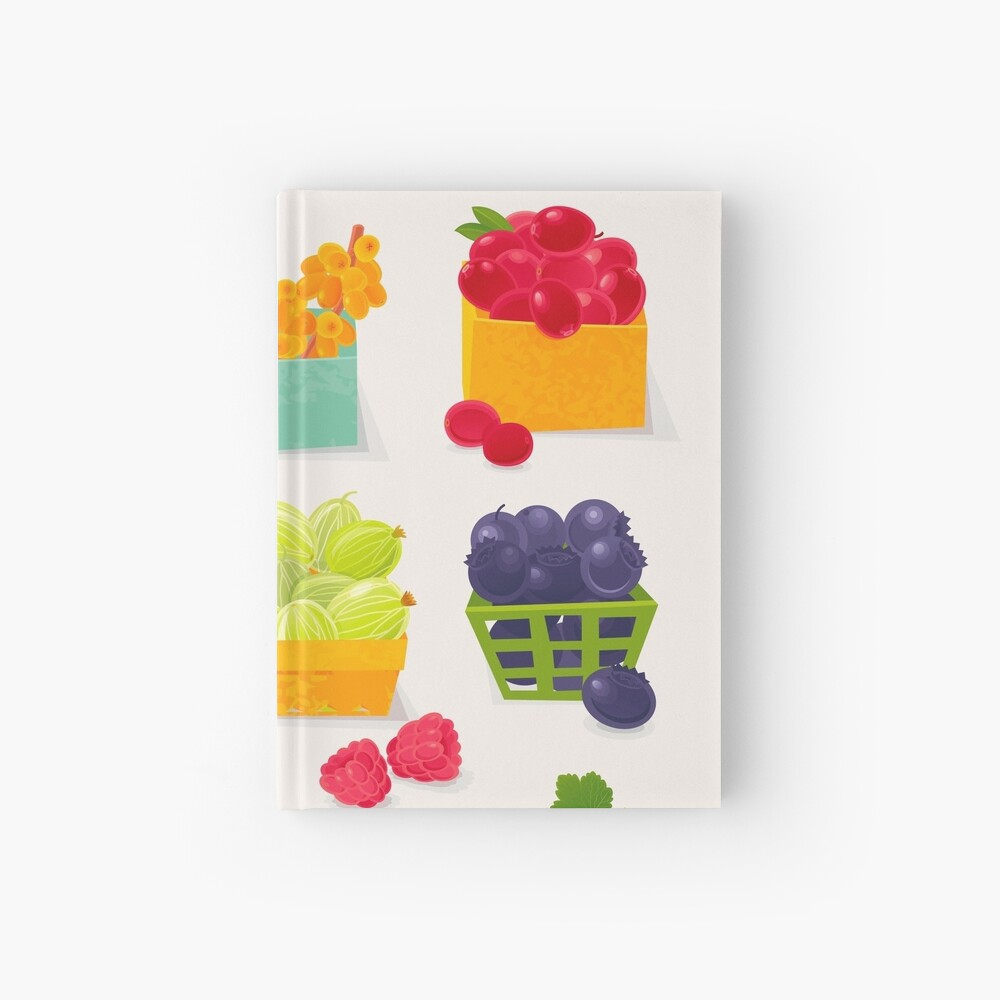 Sweet Berries Hardcover Journal