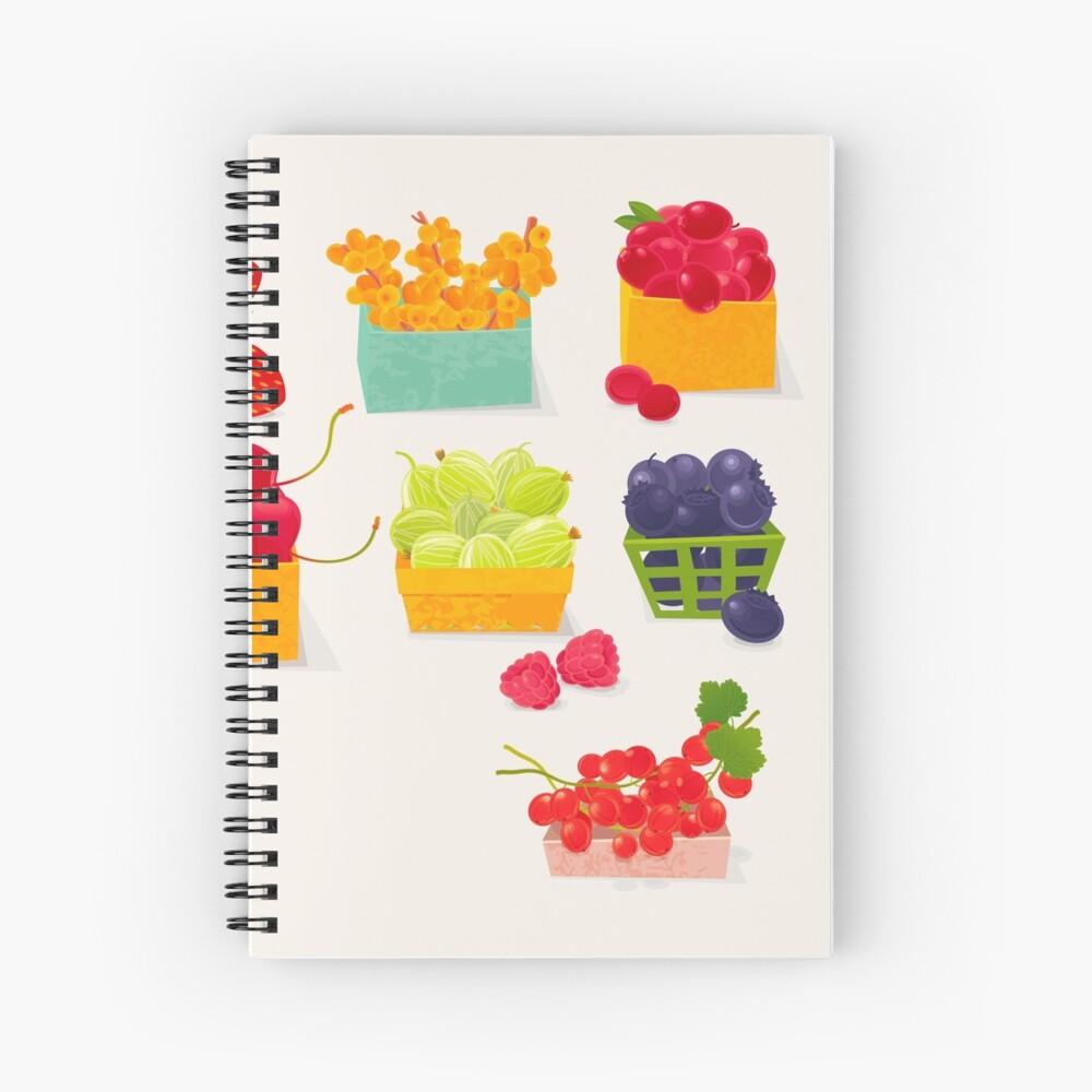 Sweet Berries Spiral Notebook
