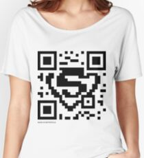 QR Code - Superman Women's Relaxed Fit T-Shirt