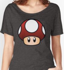 Super Mario Mushroom Women's Relaxed Fit T-Shirt