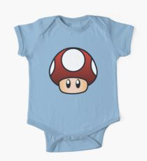 Body de manga corta para bebé Súper Mario Mushroom
