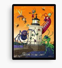 Invader Zim at Bug Light Canvas Print