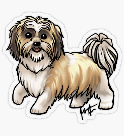Shih Tsu Transparent Sticker