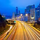 Traffic highway in Hong Kong by kawing921